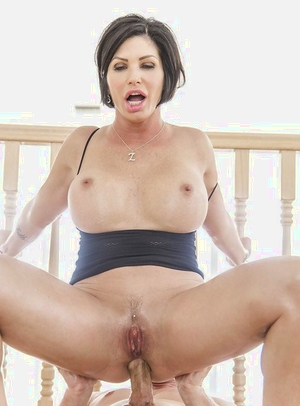 Latina cougar Shay Fox has her big booty oiled up for ass poking