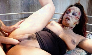 Asian pornstar Annie Cruz giving and receiving oral hook-up in messy fetish hook-up
