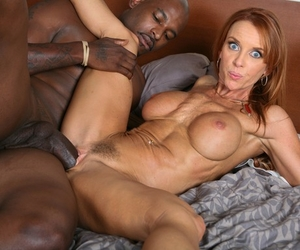 Redhead cougar Janet Mason goes 1 on 1 with the Big black cock of Flash Brown
