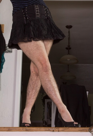 Hairy women black legs and pussy