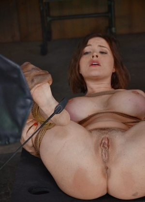 Hot MILF victim Krissy Lynn bound with legs spread for fisting & face plumbing