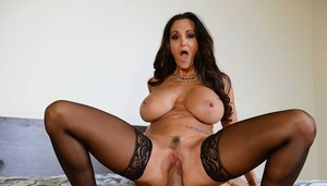 Mature wife Ava Addams shows off her blowjob abilities and big hooters