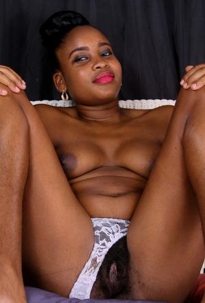 Big ebony hairy bush sex image in pant