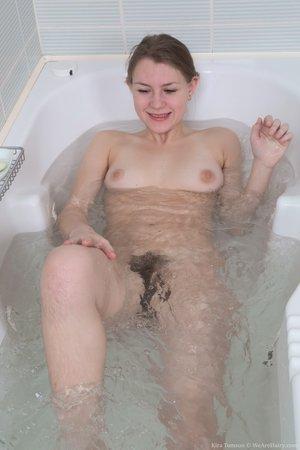 Hairy in bath - 7