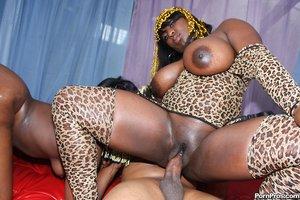 Huge black dicks into black vagina photos - 9