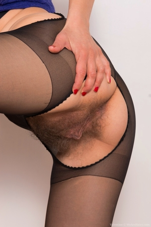 Pantyhose hairy - 5