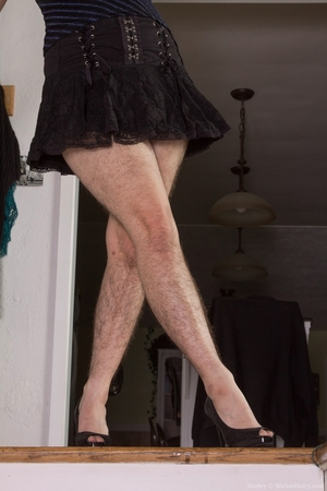 Hairy women black legs and pussy - 2