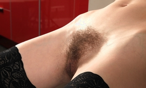 Thin stocking hairy cunt pic - 8