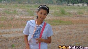 Hairy school girl - 1