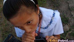 Hairy school girl - 6
